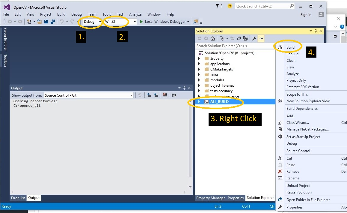 OpenCV 3 0, Microsoft Visual Studio 2015, Cmake and C++